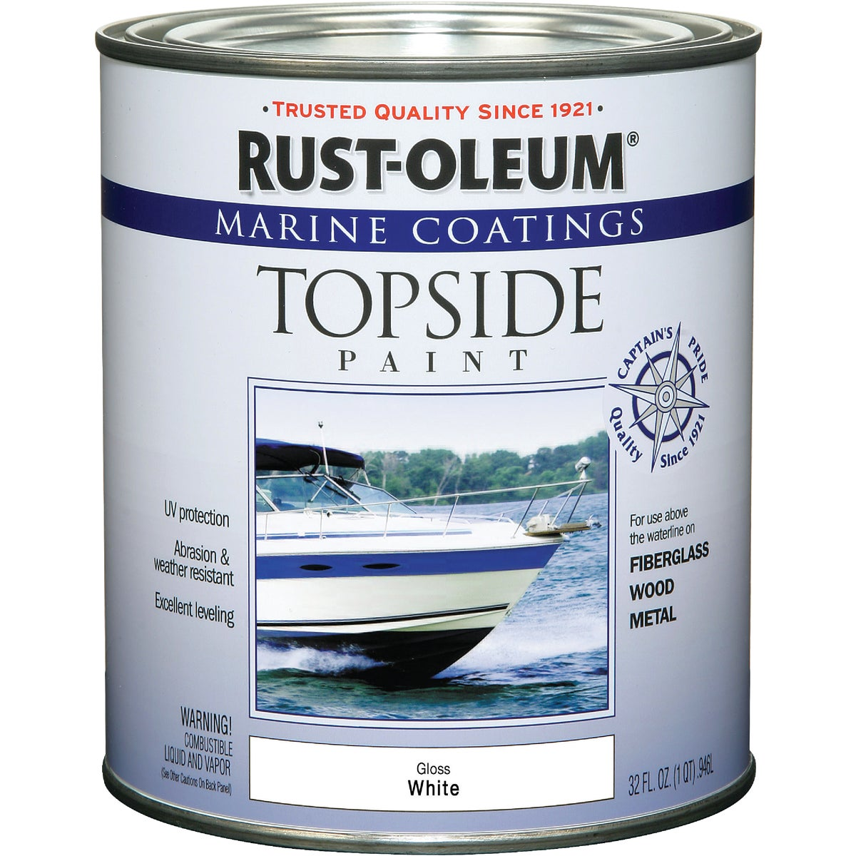 WHITE MARINE TOP PAINT - 206999 by Rustoleum