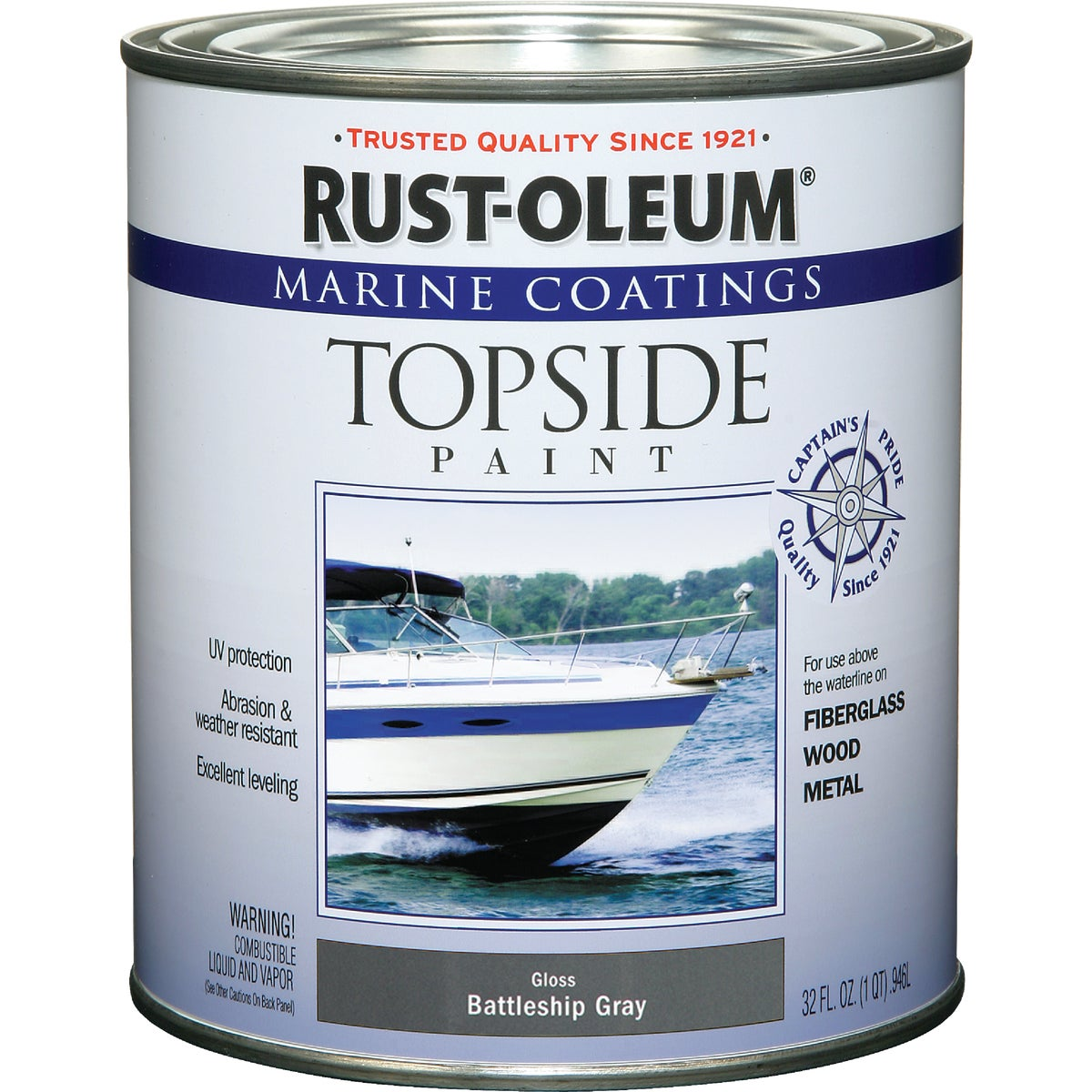 BAT GRY MARINE TOP PAINT - 207005 by Rustoleum