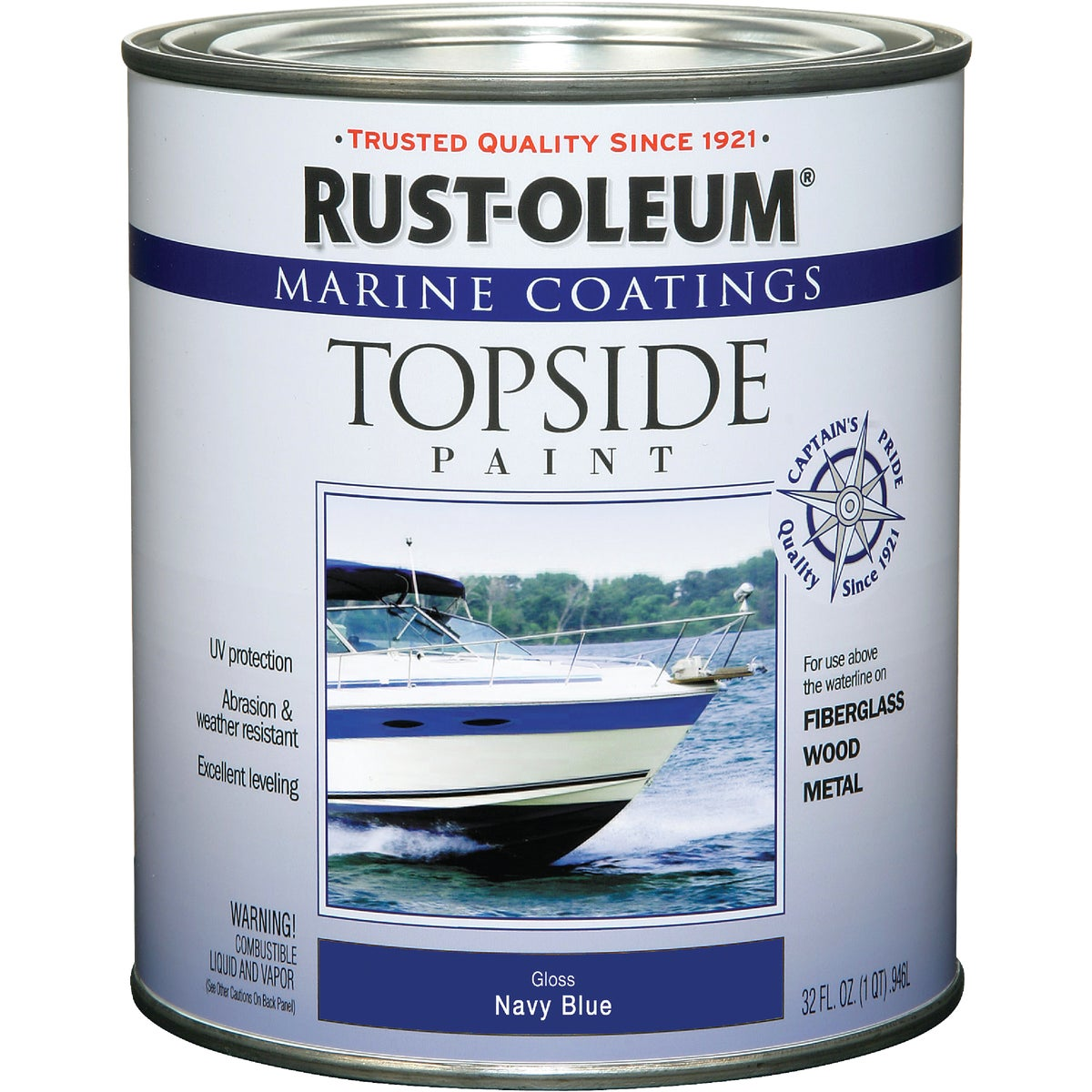 NAVY BL MARINE TOP PAINT - 207002 by Rustoleum