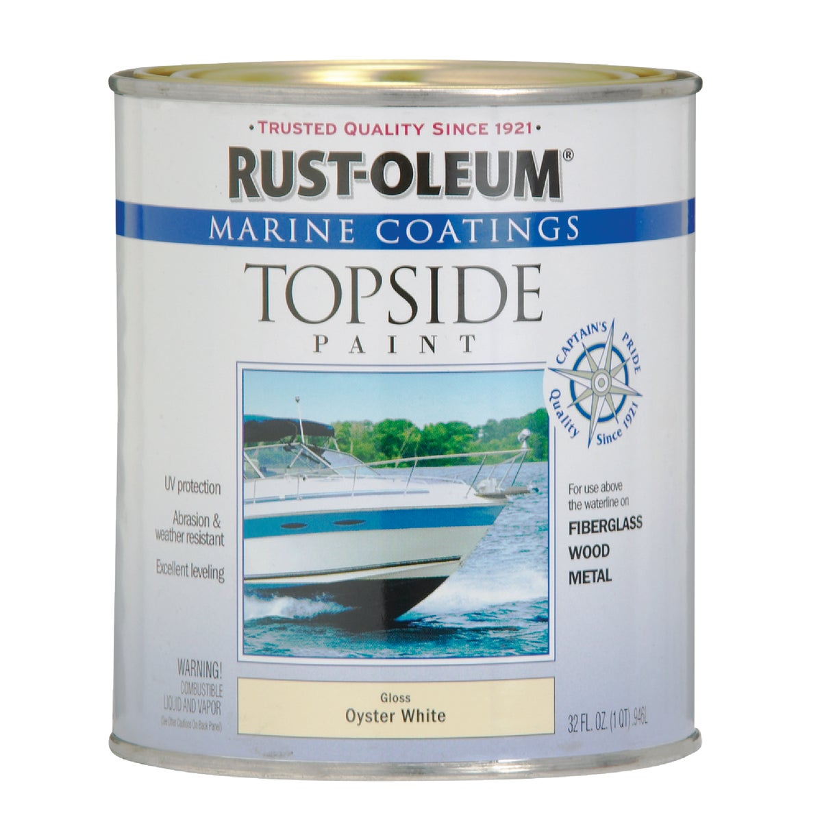OYS WHT MARINE TOP PAINT - 207001 by Rustoleum