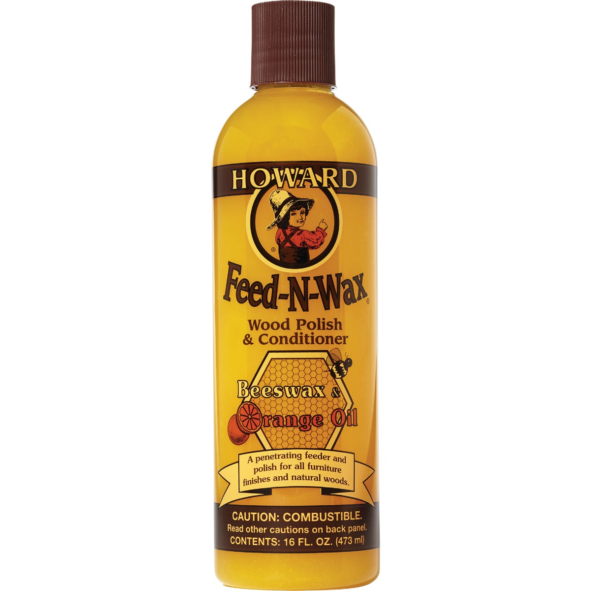 16OZ FEED-N-WAX - FW0016 by Howard Products