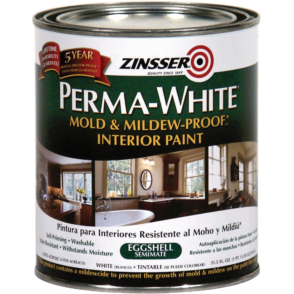 INT EGG WHT MILDEW PAINT