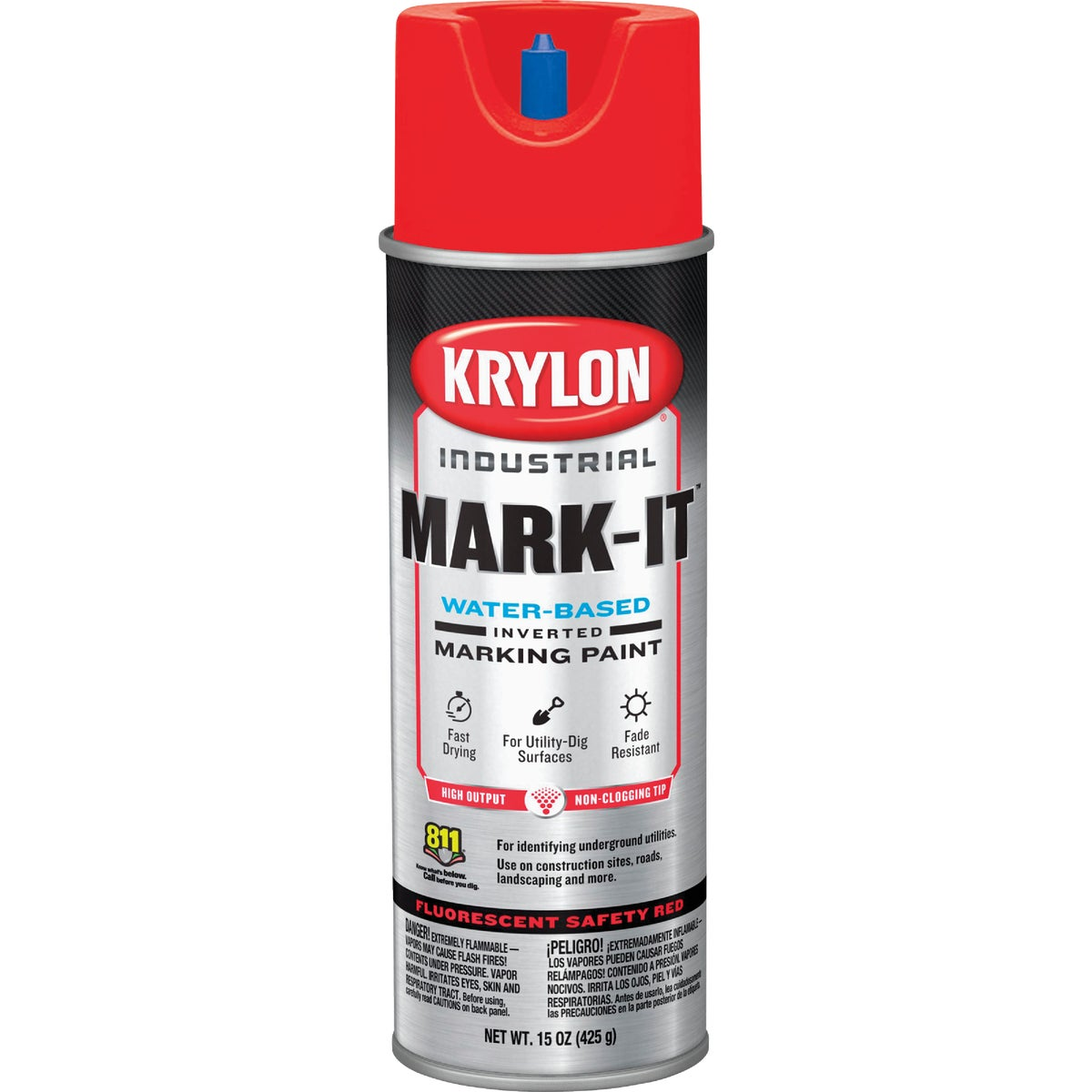 FLUOR RED MARKING PAINT - 7324 by Krylon/consumer Div