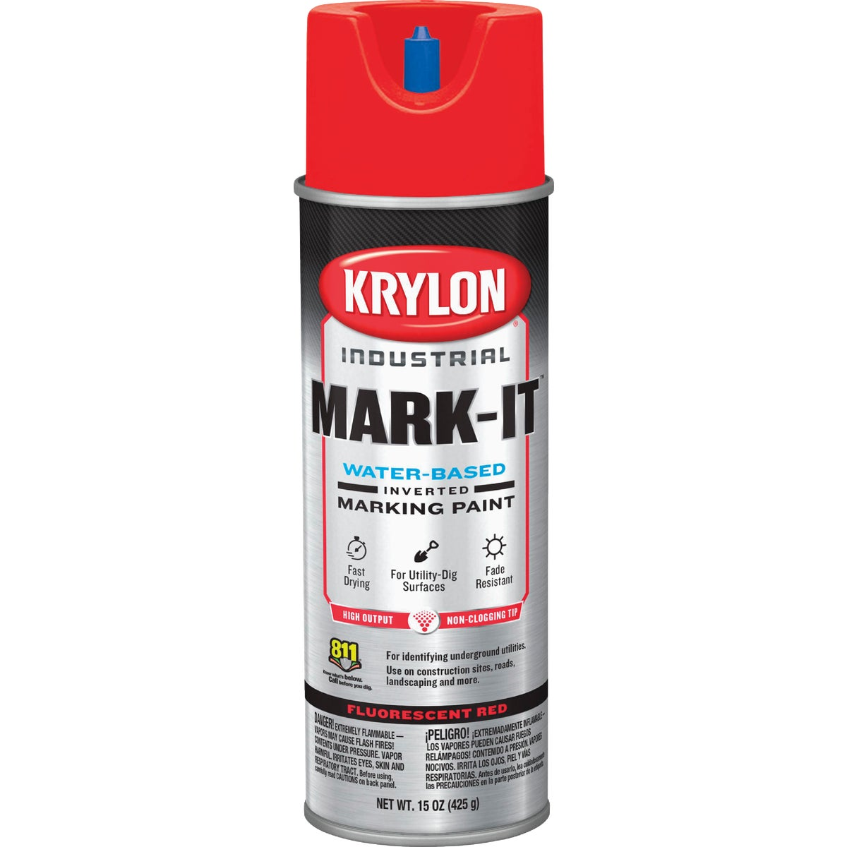 APWA RED MARKING PAINT - 7313 by Krylon/consumer Div