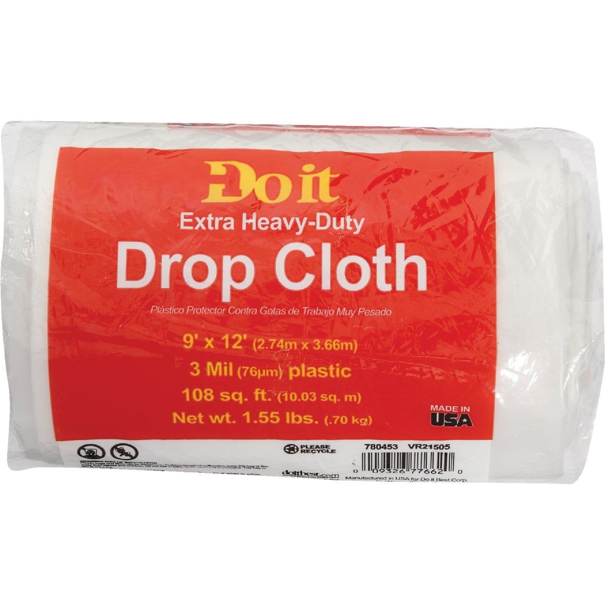 3MIL 9X12 PLS DROP CLOTH - 626245 by Berry Plastics