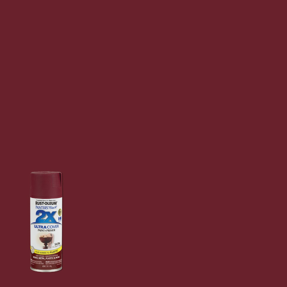 SAT CLA WINE SPRAY PAINT - 249083 by Rustoleum