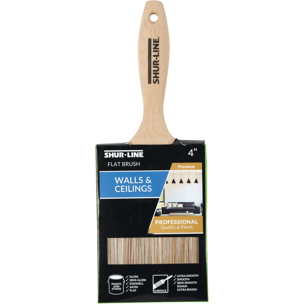 "4"" FLAT PAINT BRUSH - 55538 by Shur Line"
