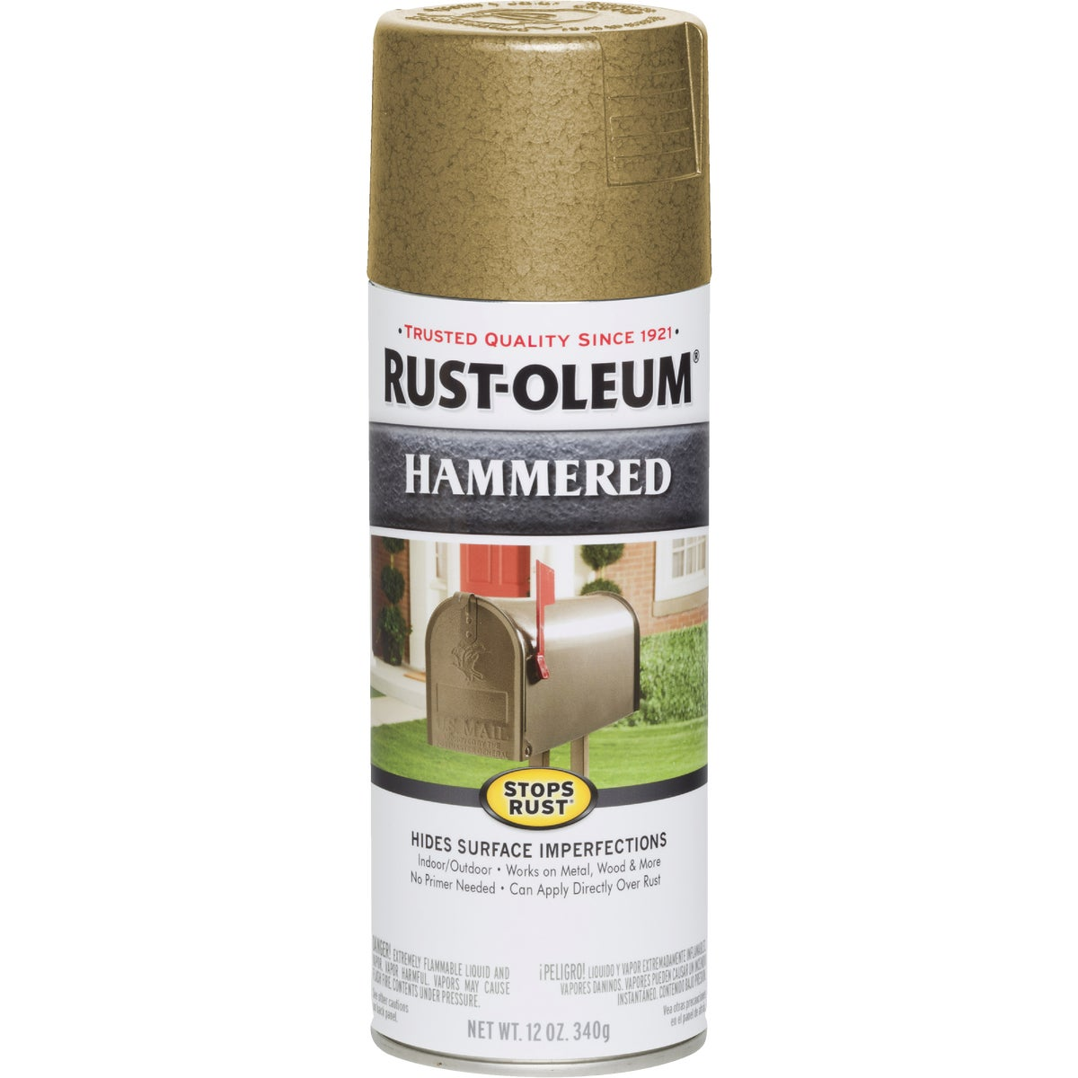 GOLD HAMMERD SPRAY PAINT - 7210-830 by Rustoleum