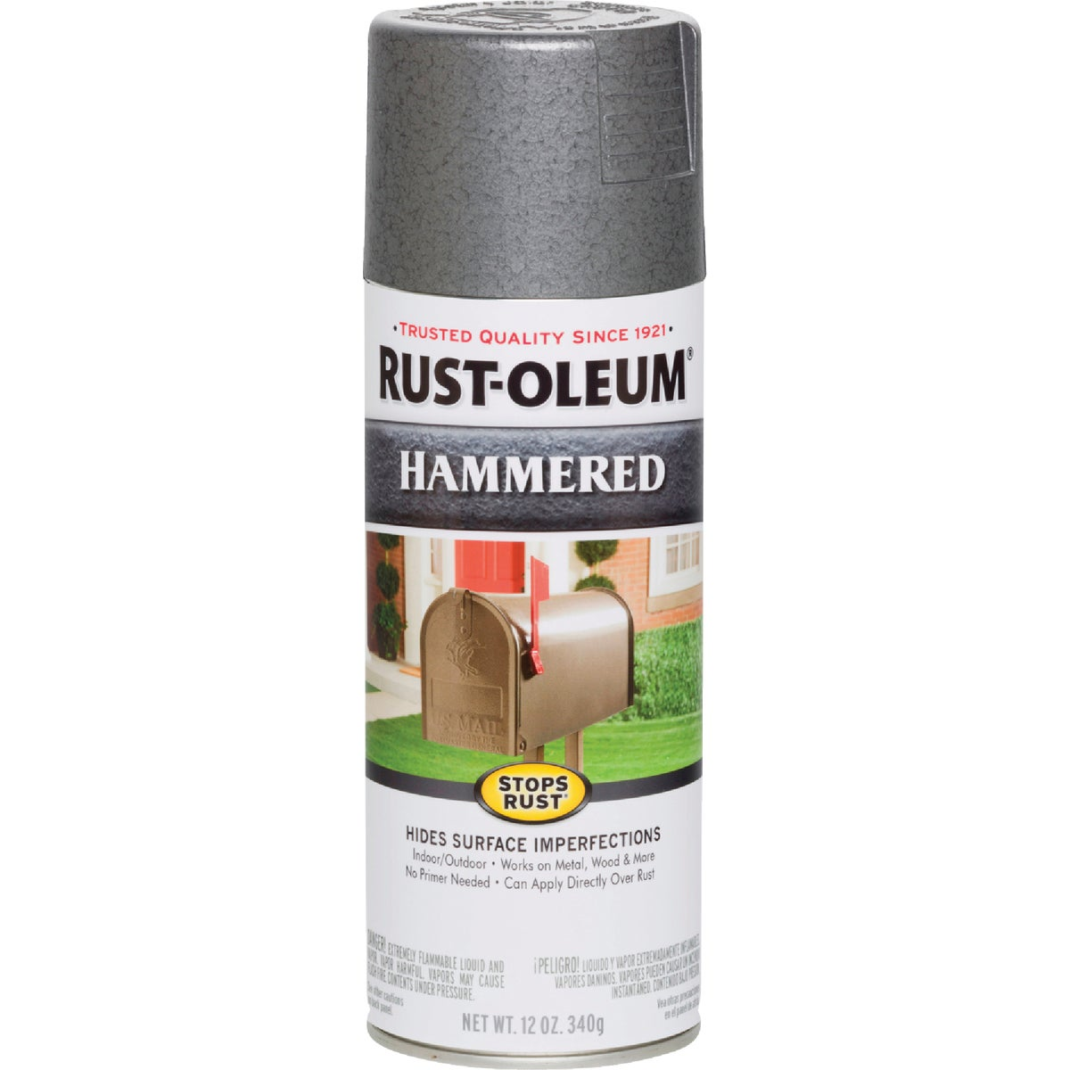 GRAY HAMMERD SPRAY PAINT - 7214-830 by Rustoleum