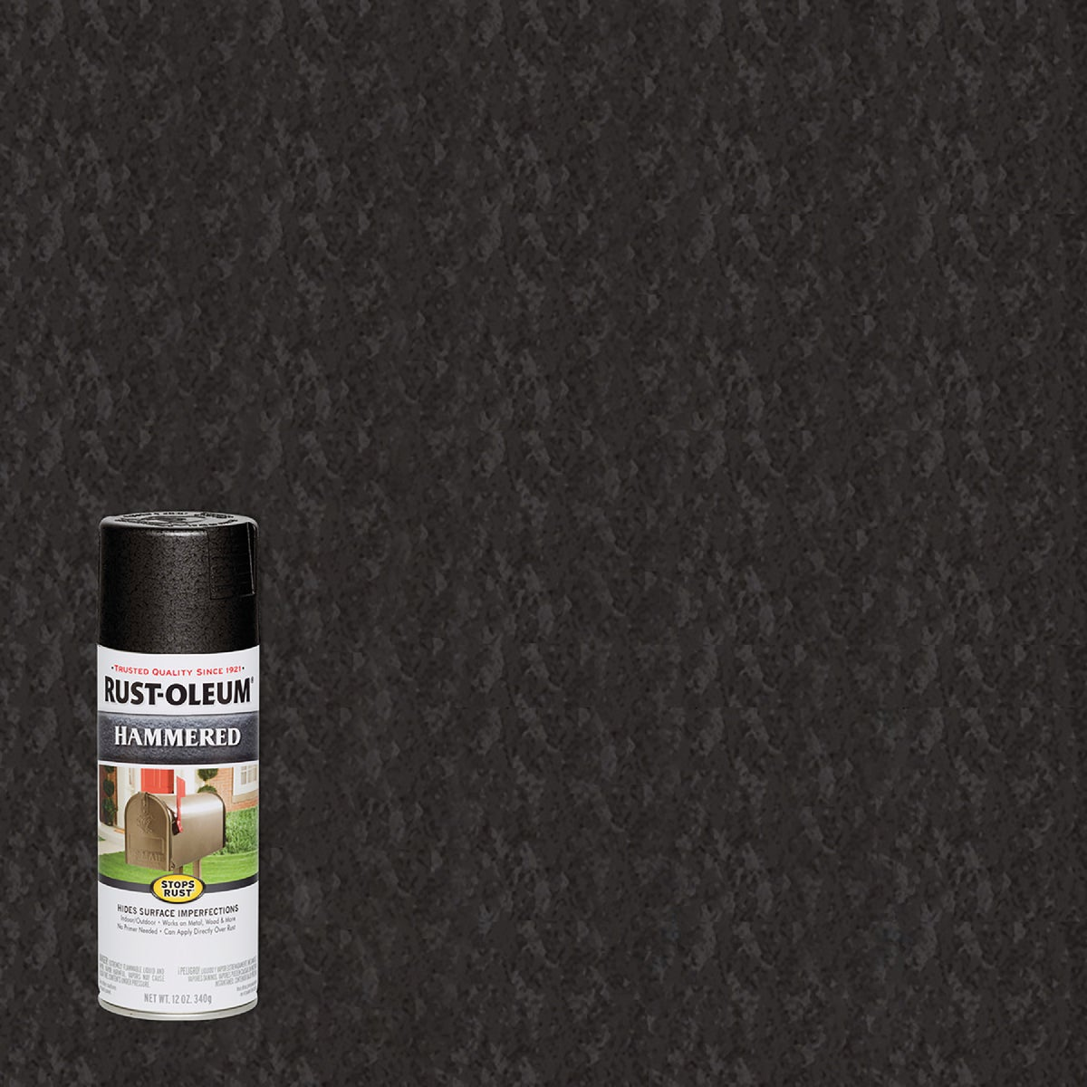 BLK HAMMERED SPRAY PAINT - 7215-830 by Rustoleum