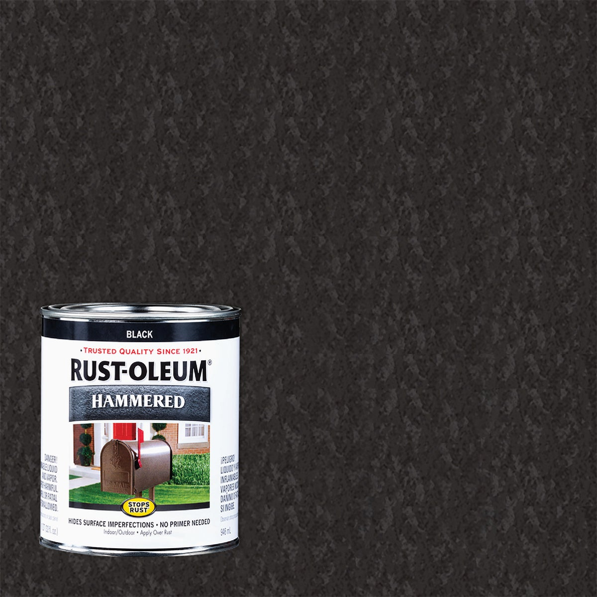 BLACK HAMMERED PAINT - 7215-502 by Rustoleum