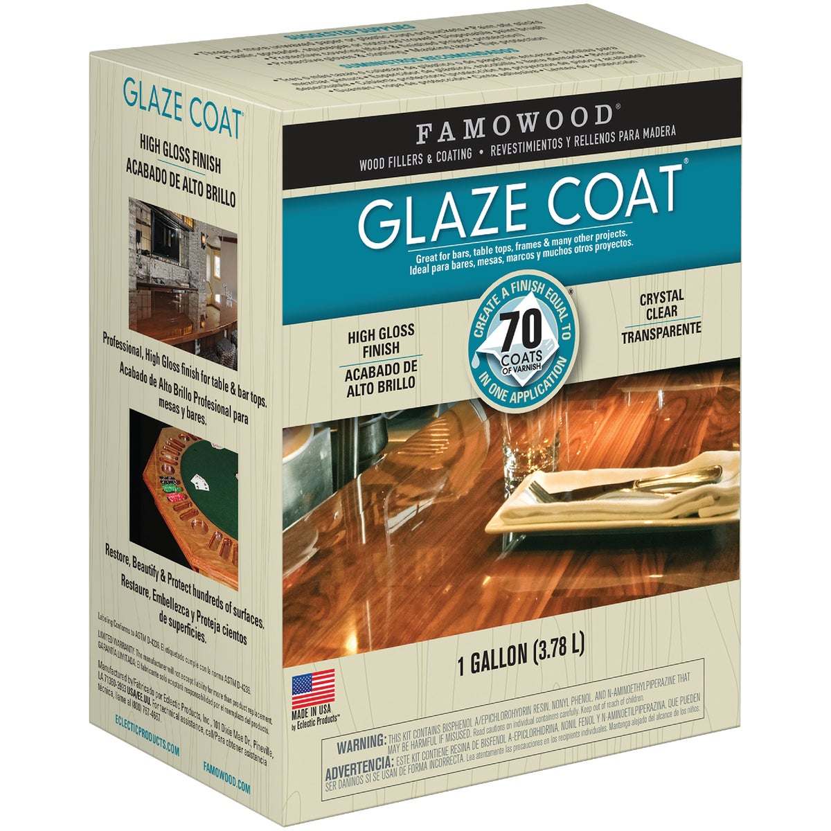 GAL CLR POUR-ON COATING - 5050110 by Eclectic Prod Inc