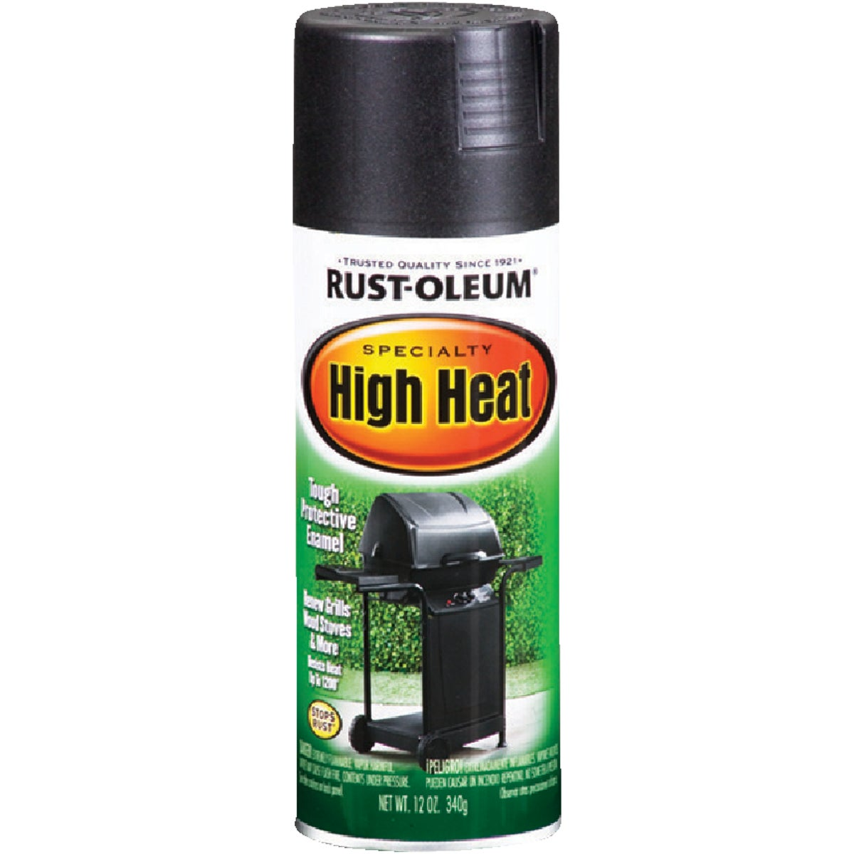 BLK HI-HEAT SPRAY PAINT - 7778-830 by Rustoleum