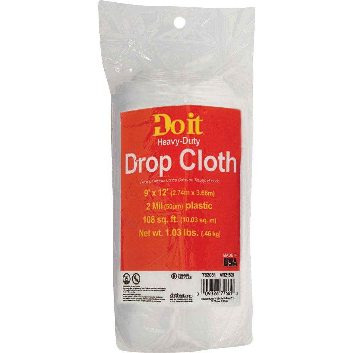 2MIL 9X12 PLS DROP CLOTH - 626239 by Berry Plastics