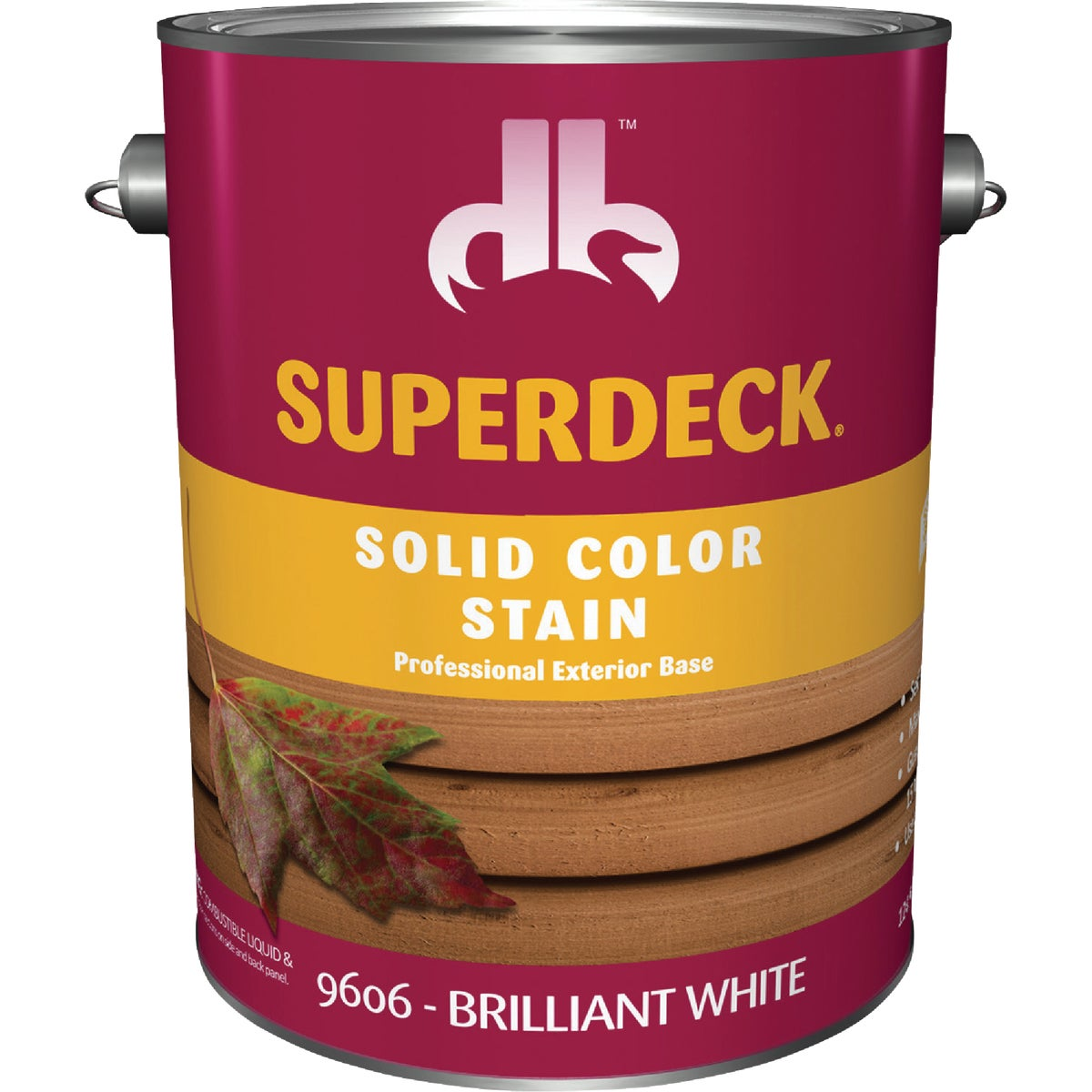 WHITE SOLID DECK STAIN - DB9606-4 by Duckback Prod