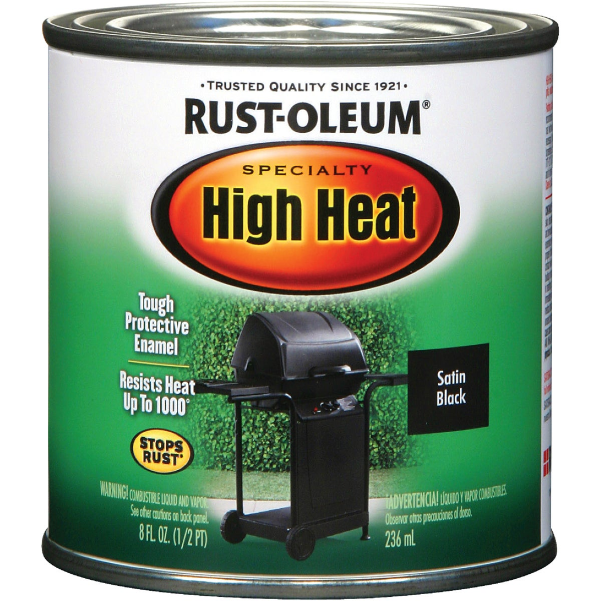 BBQ BLK HIGH-HEAT ENAMEL - 7778-730 by Rustoleum