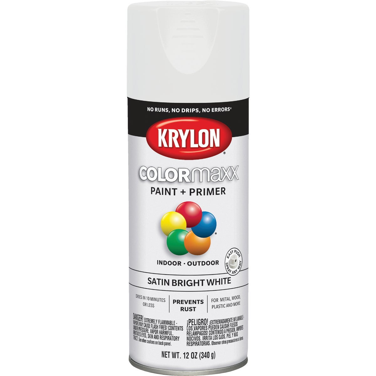 SAT BRHT WHT SPRAY PAINT - 53517 by Krylon/consumer Div