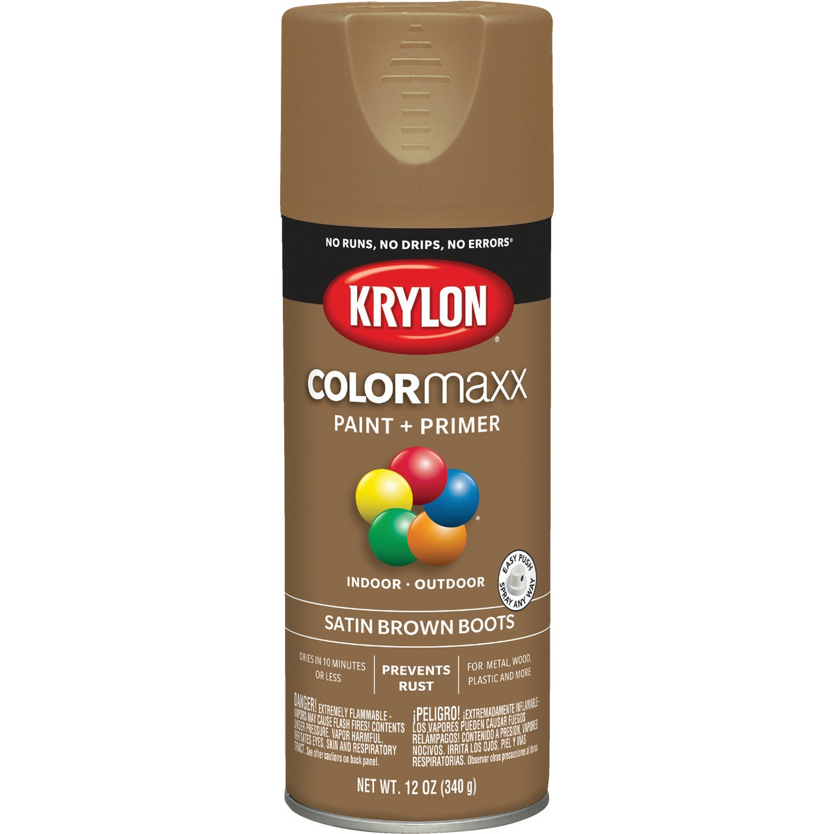 SAT BROWN SPRAY PAINT - 53562 by Krylon/consumer Div