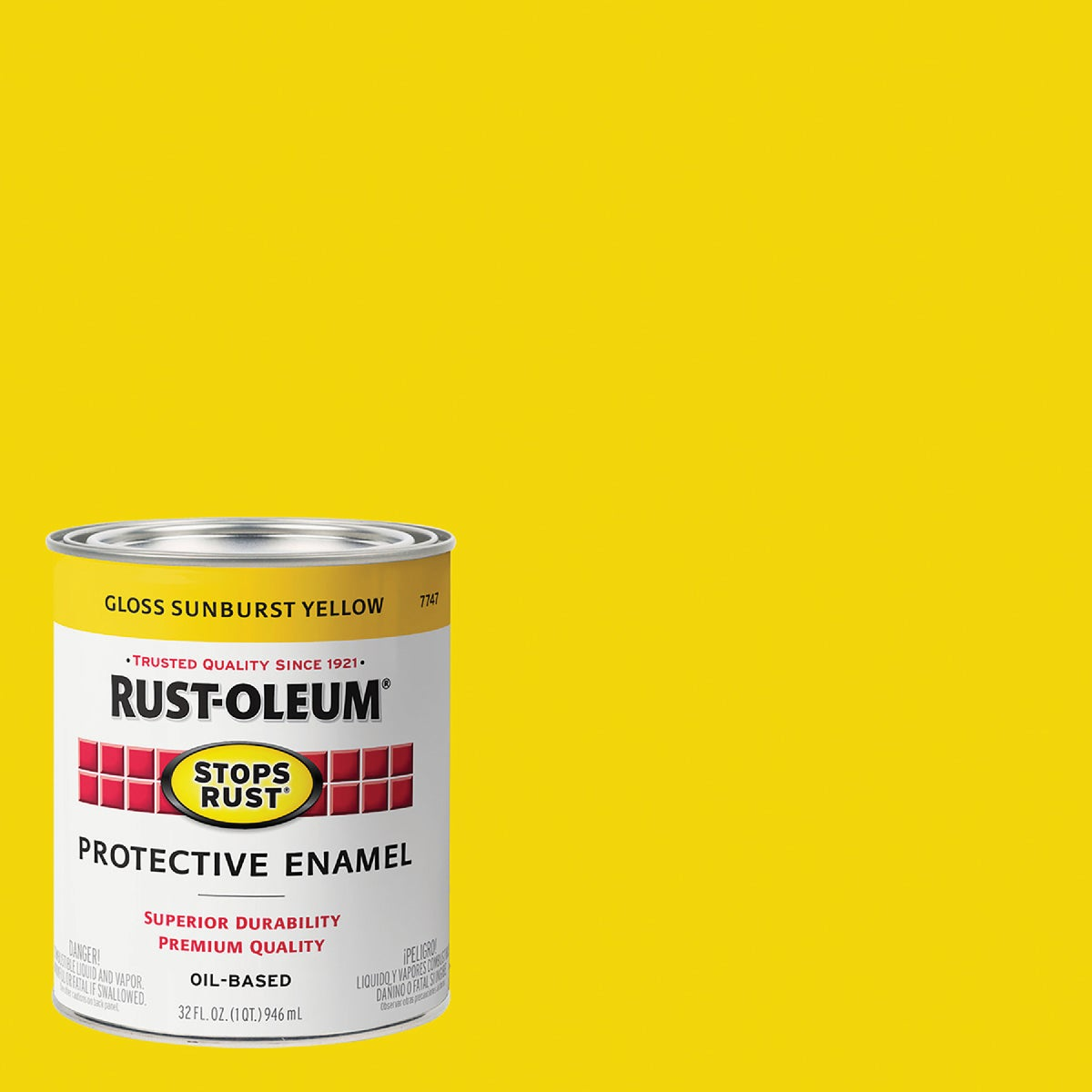 SUNBURST YELLOW ENAMEL - 7747-502 by Rustoleum