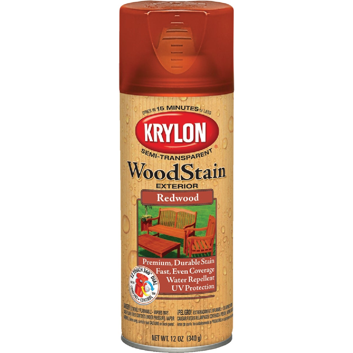 S/T REDWOOD SPRAY STAIN - 3604 by Krylon/consumer Div