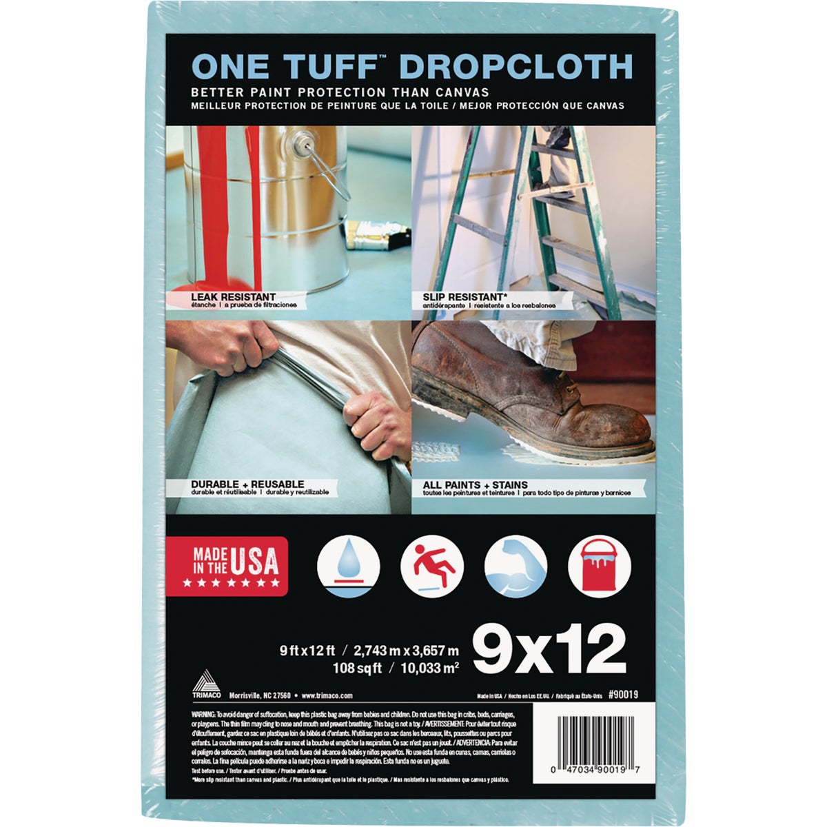9X12 ONE TUFF DROPCLOTH - 90019 by Trimaco L L C