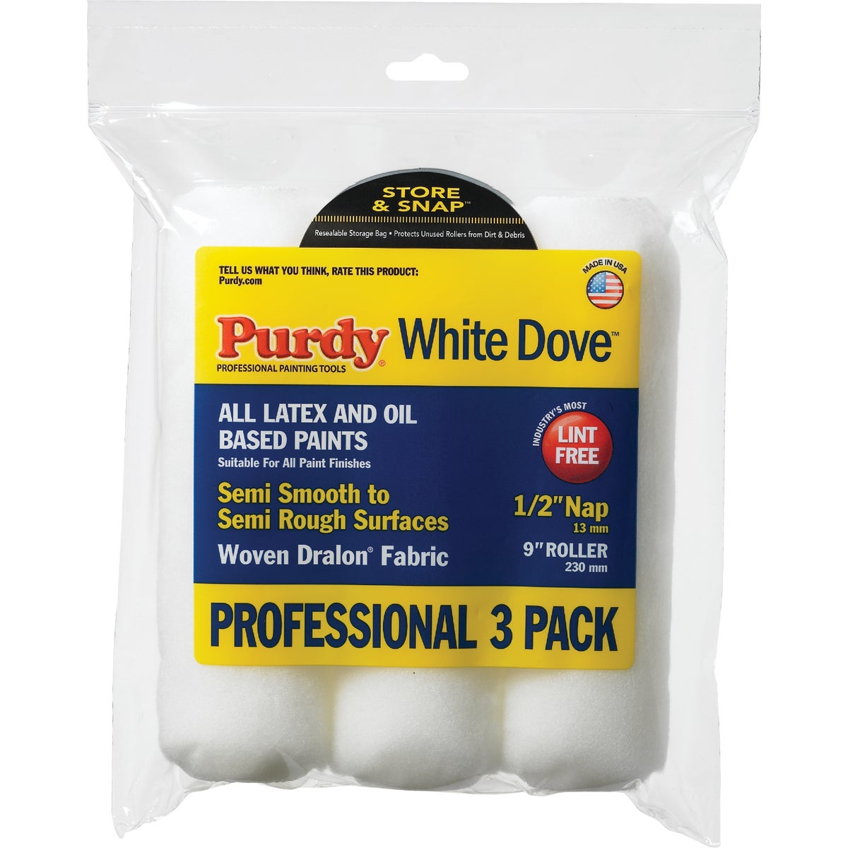 "3PK 1/2"" ROLLER COVERS - 140864000 by Purdy Bestt Liebco"