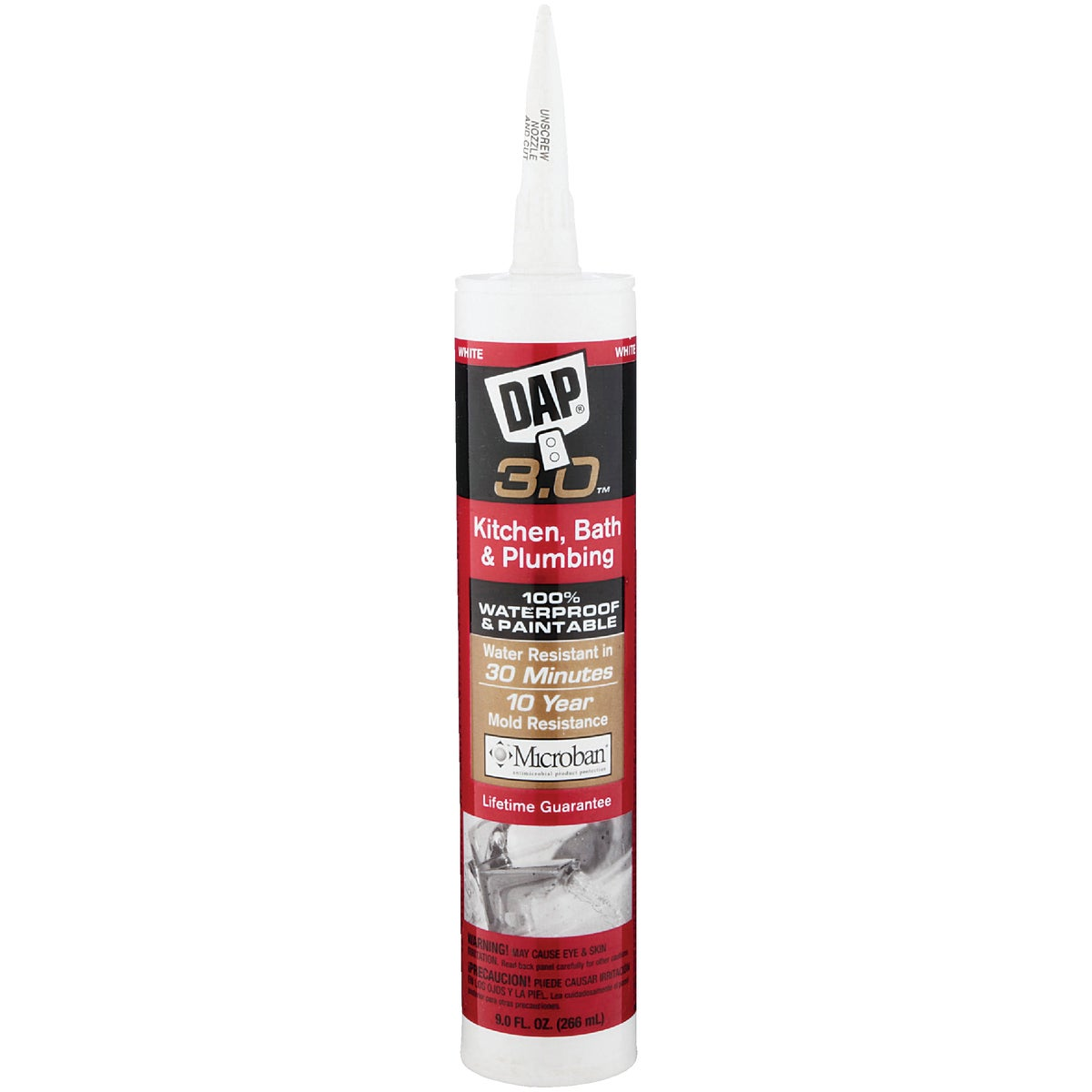 WHITE FD KIT/BATH CAULK - 00790 by Dap Inc