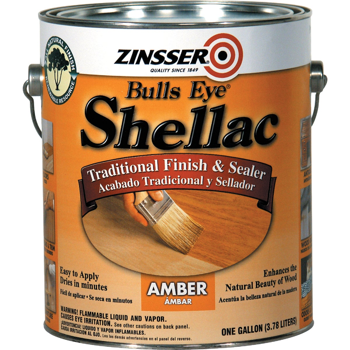 3LB AMBER SHELLAC - 0701 by Rustoleum