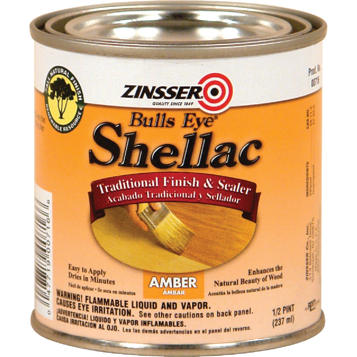 3LB AMBER SHELLAC - 0716 by Rustoleum
