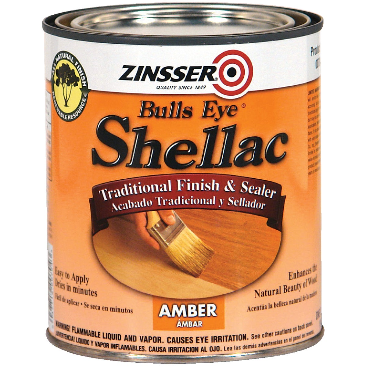 3LB AMBER SHELLAC - 704H by Rustoleum