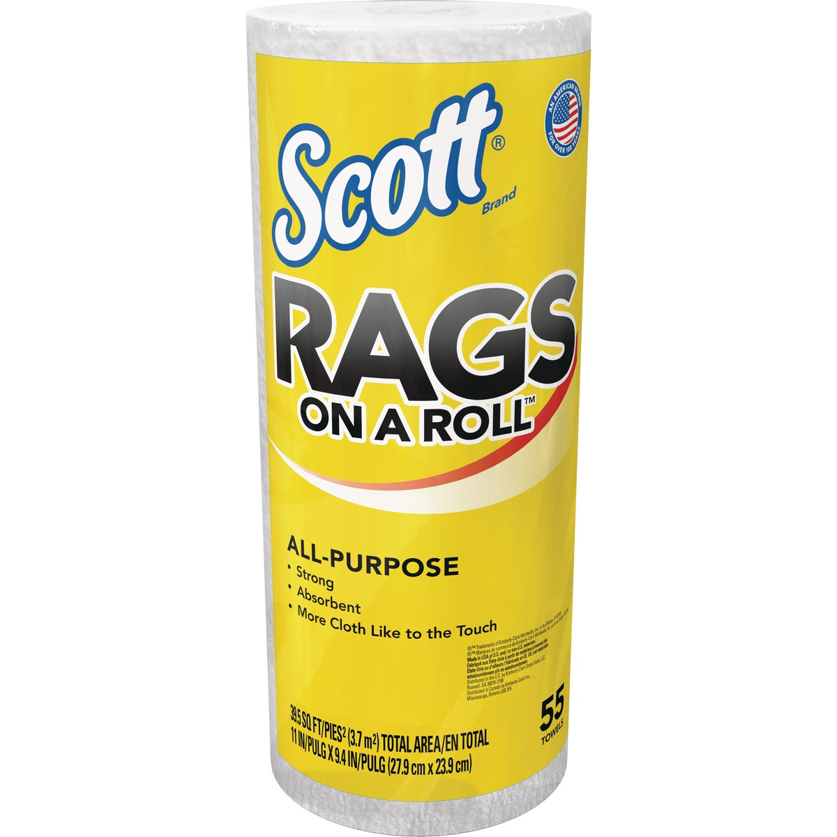 55Ct Roll White Rags