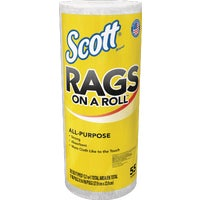 Kimberly-Clark/Scott Paper 55CT ROLL WHITE RAGS 75230