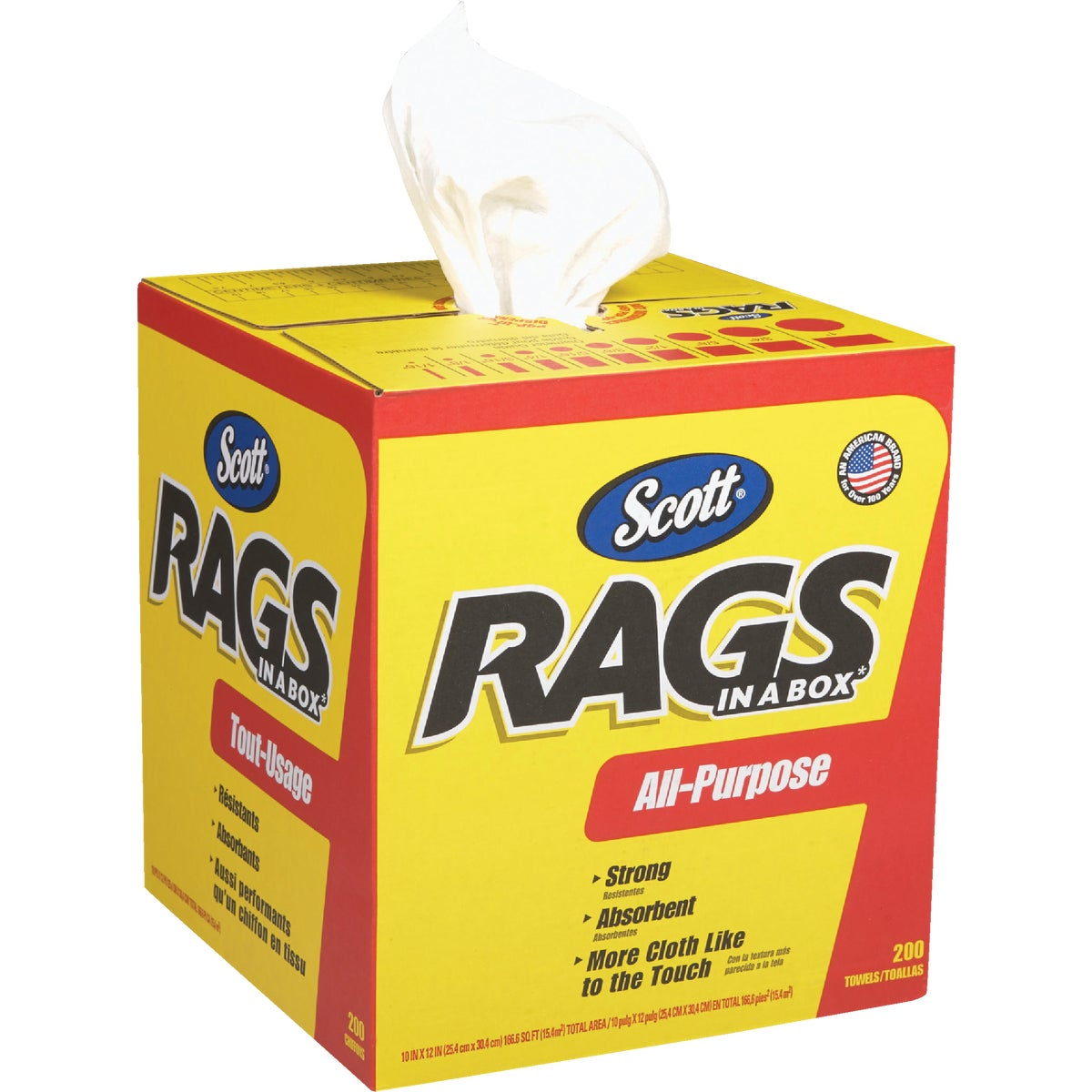 200CT BOX RAGS - 75260 by Kimberly Clark Scott