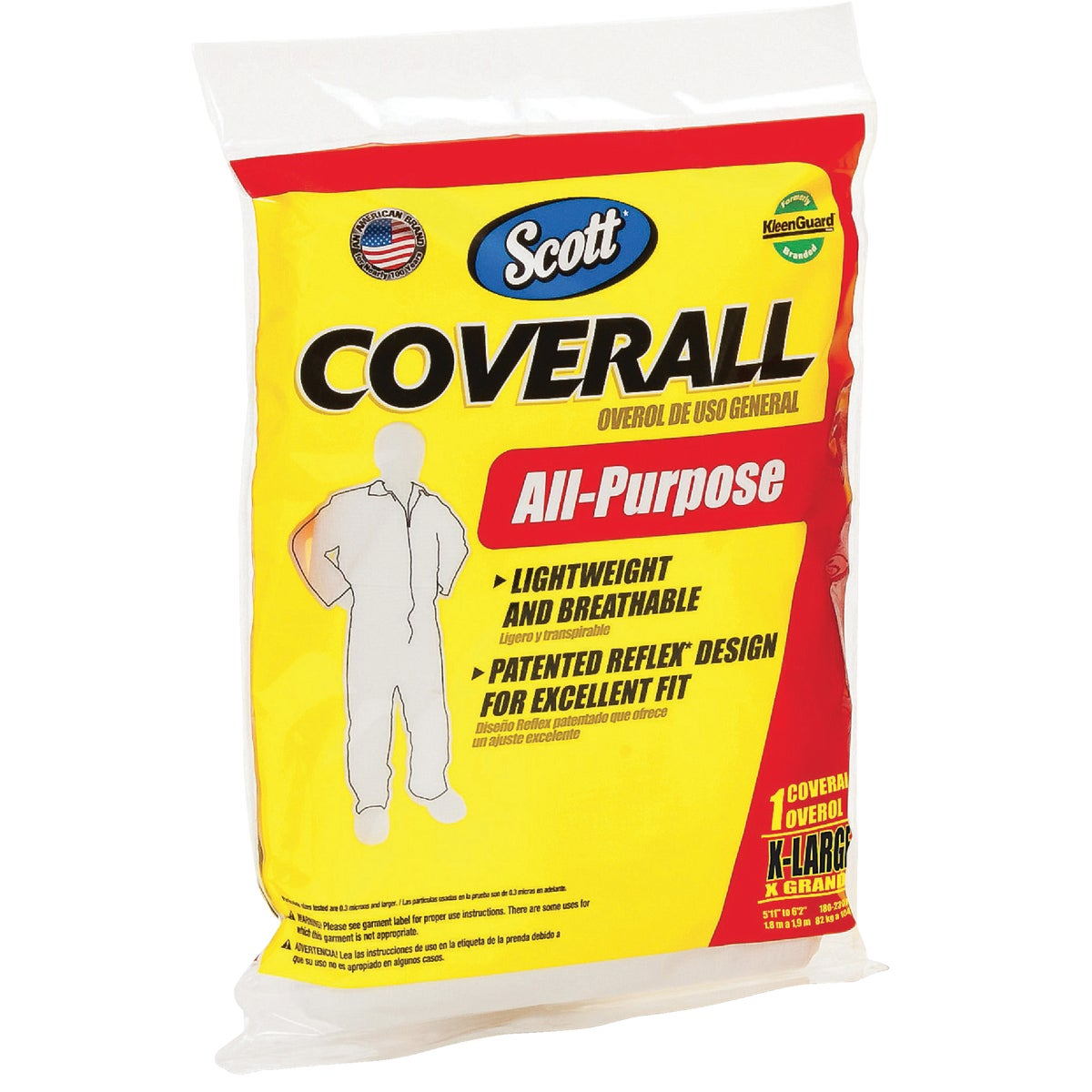 Kimberly-Clark/Scott Paper XL WHITE AP COVERALL 76395
