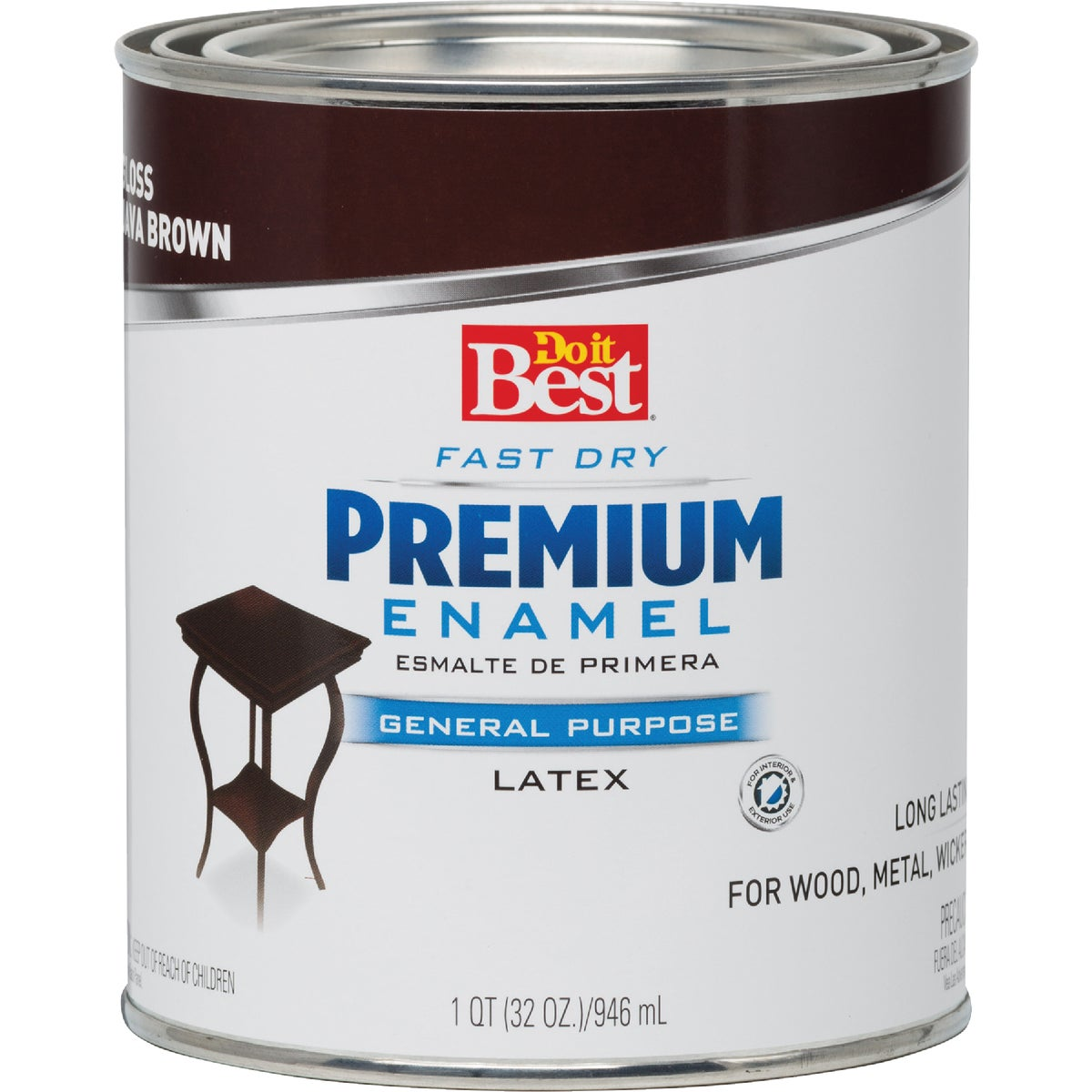 JAVA BROWN LATEX ENAMEL - 203312D by Rustoleum