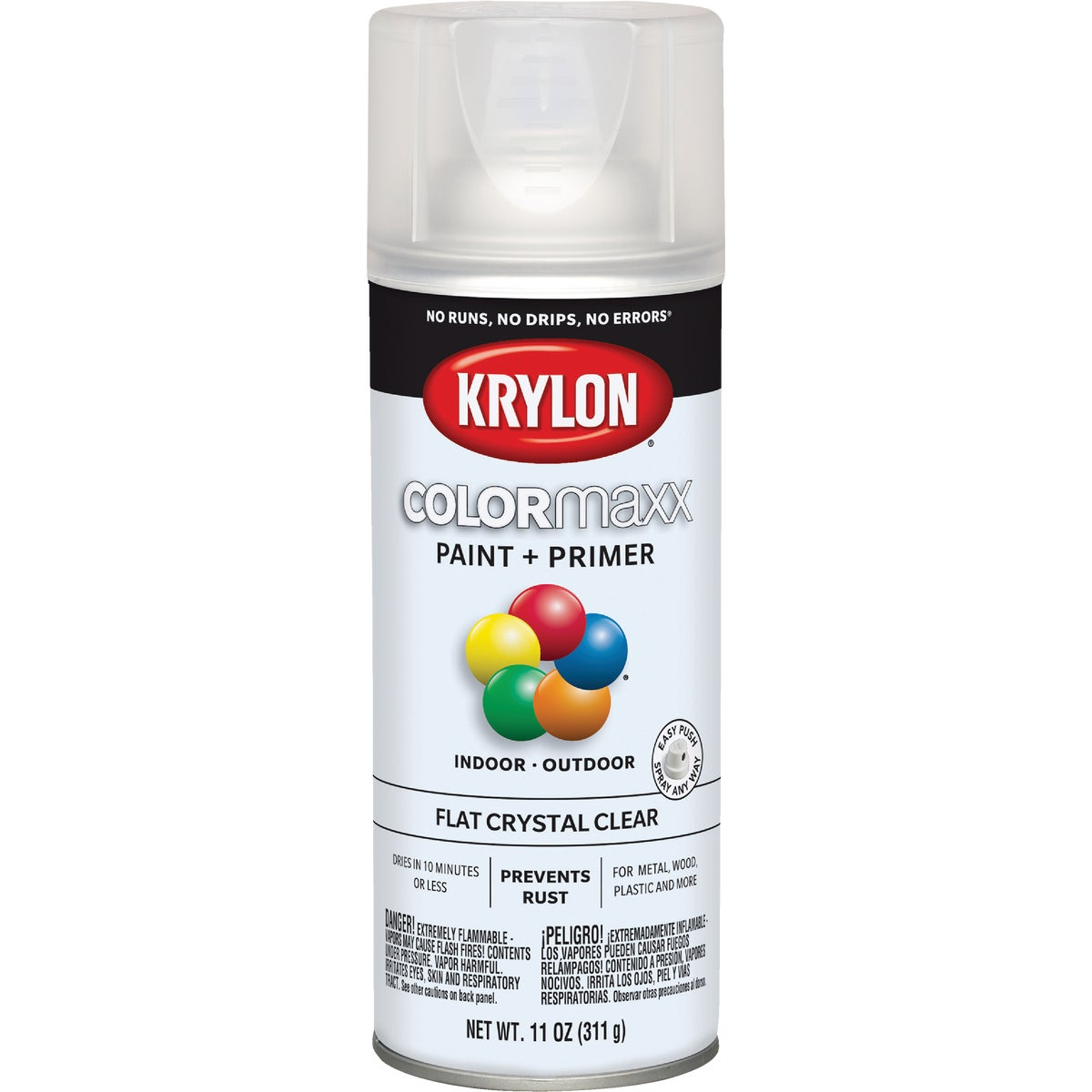 CLEAR FLAT SPRAY FINISH - 53530 by Krylon/consumer Div