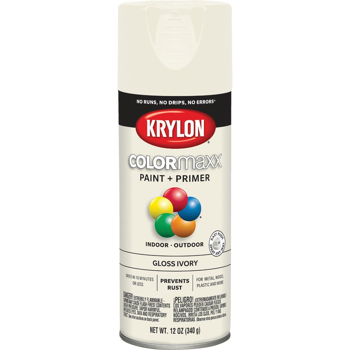 GLOSS IVORY SPRAY PAINT - 51504 by Krylon/consumer Div