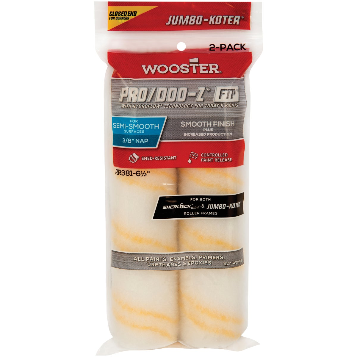 "6-1/2X3/8 ROLLER COVER - RR302-6-1/2"" by Wooster Brush Co"