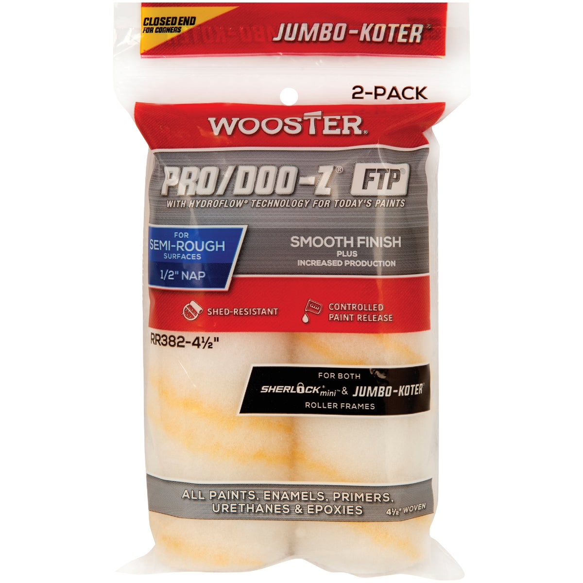 4-1/2X1/2 FTP ROLLER CVR - RR372-4-1/2 by Wooster Brush Co