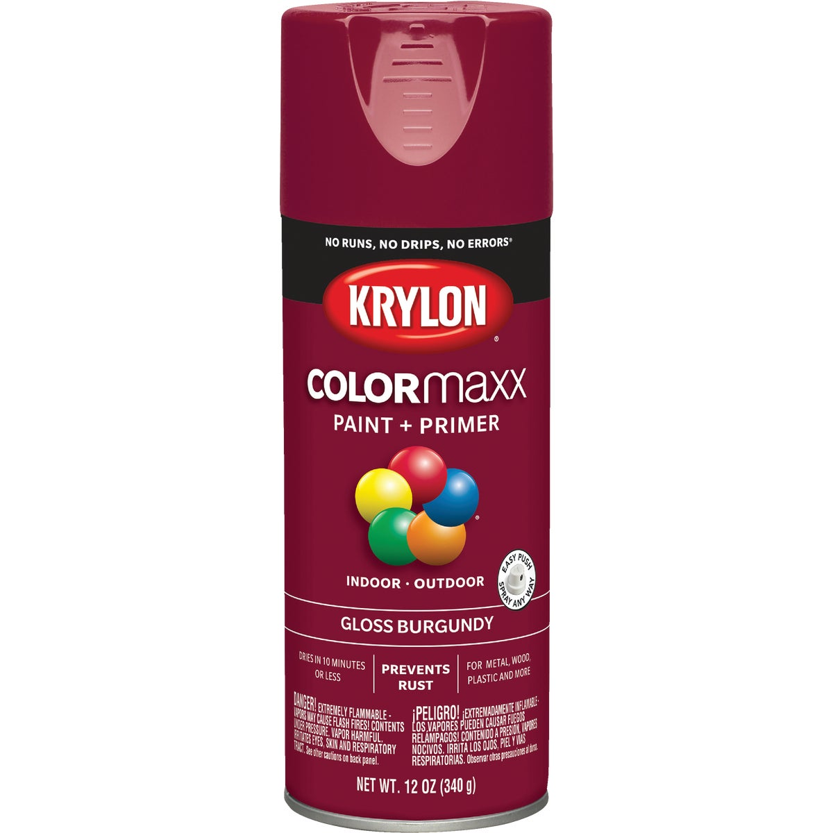 GLS BURGUNDY SPRAY PAINT - 52118 by Krylon/consumer Div