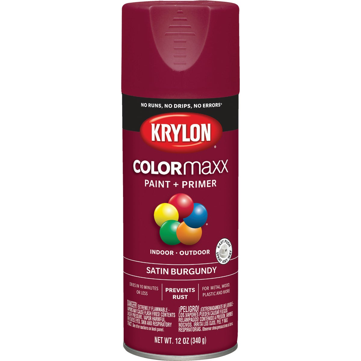 SAT BURGUNDY SPRAY PAINT - 53503 by Krylon/consumer Div