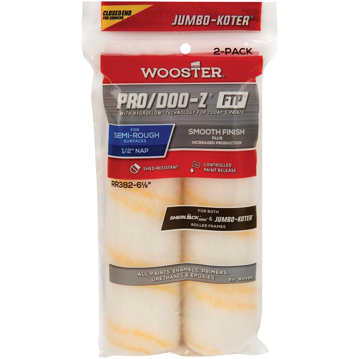 6-1/2X1/2 FTP ROLLER CVR - RR372-6-1/2 by Wooster Brush Co