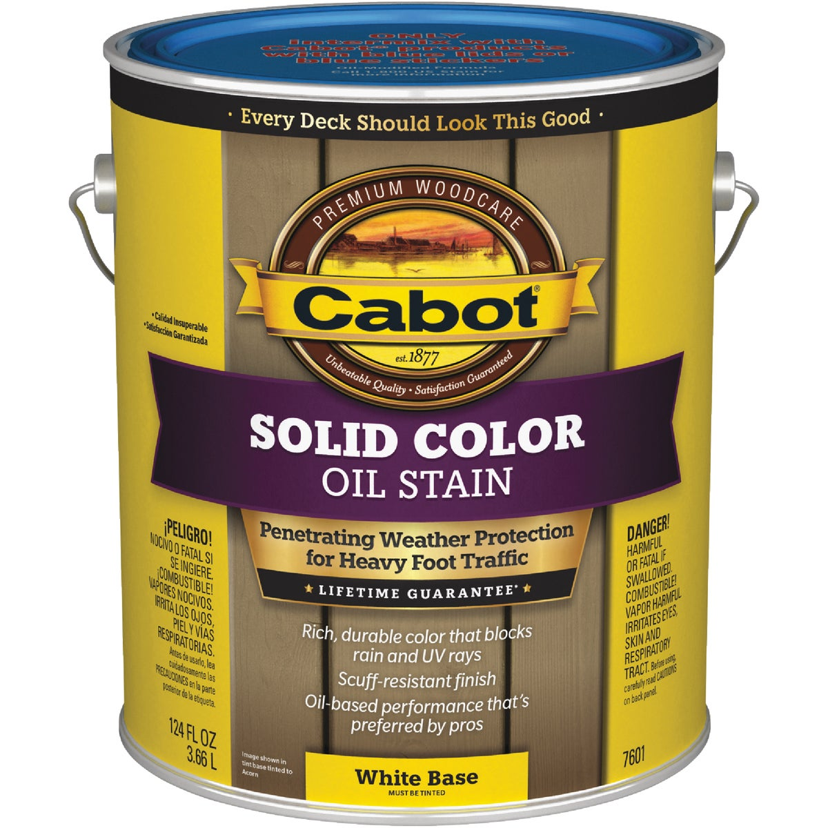 WHT BS SOLID DECK STAIN - 140.0007601.007 by Valspar Corp