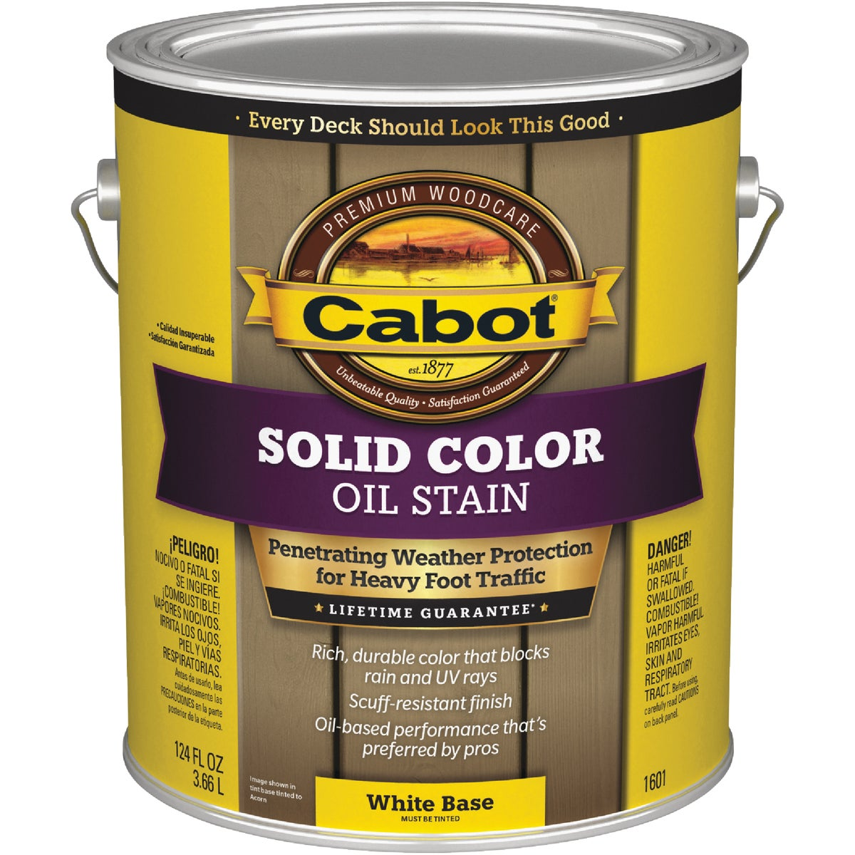 WHT BS SOLID DECK STAIN - 140.0001601.007 by Valspar Corp