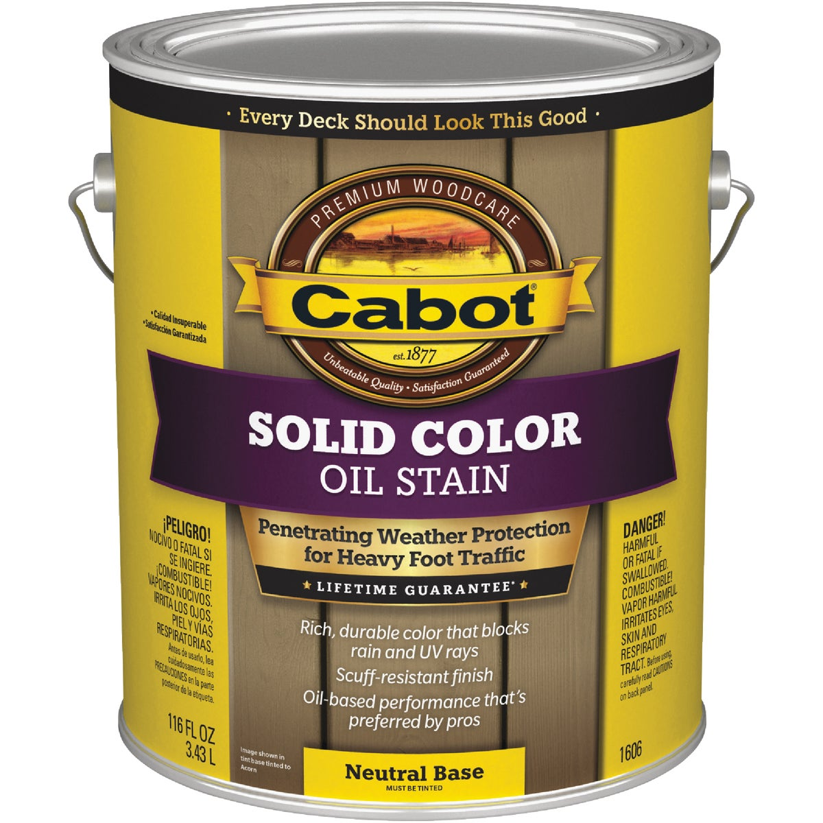 NEUT BS SOLID DECK STAIN - 140.0001606.007 by Valspar Corp