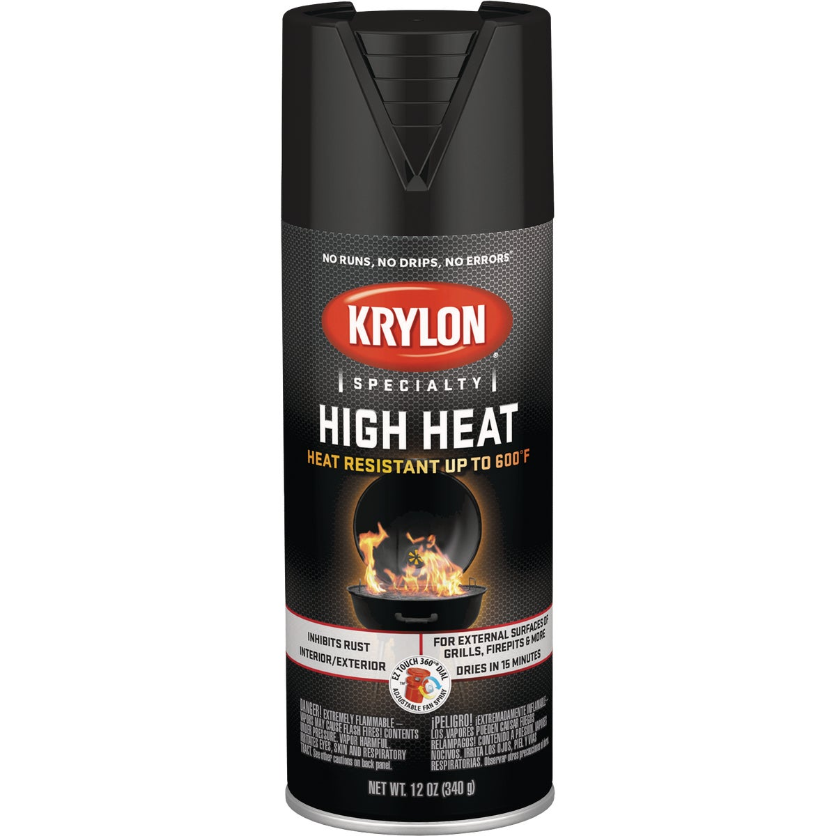 FLT BLK HEAT SPRAY PAINT - K01618000 by Krylon/consumer Div
