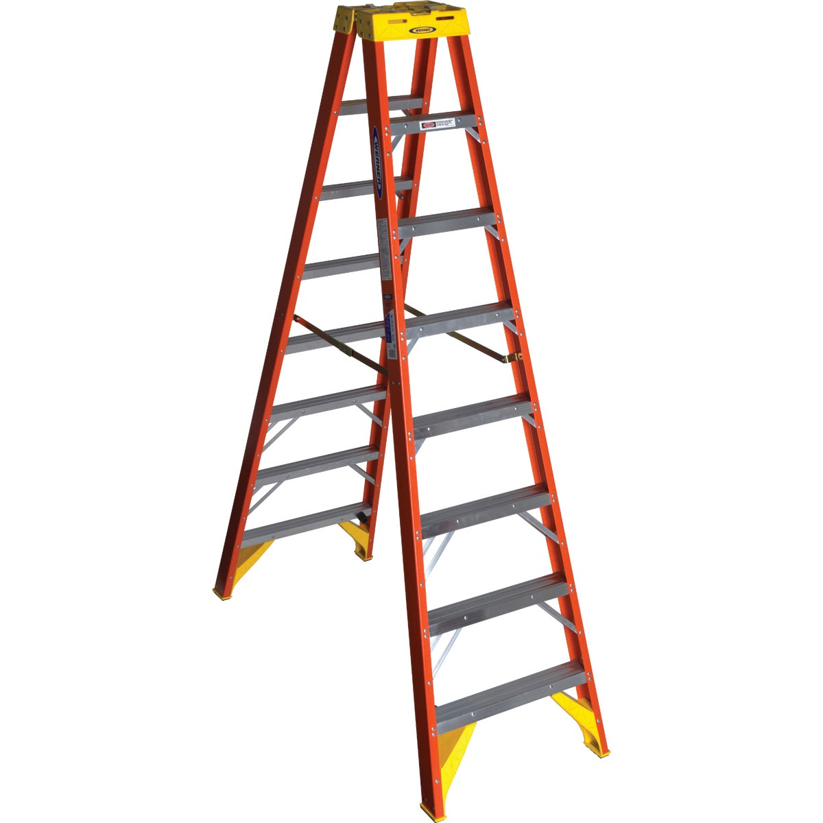 T-1A 8' TWIN STEPLADDER - T6208 by Werner Ladder