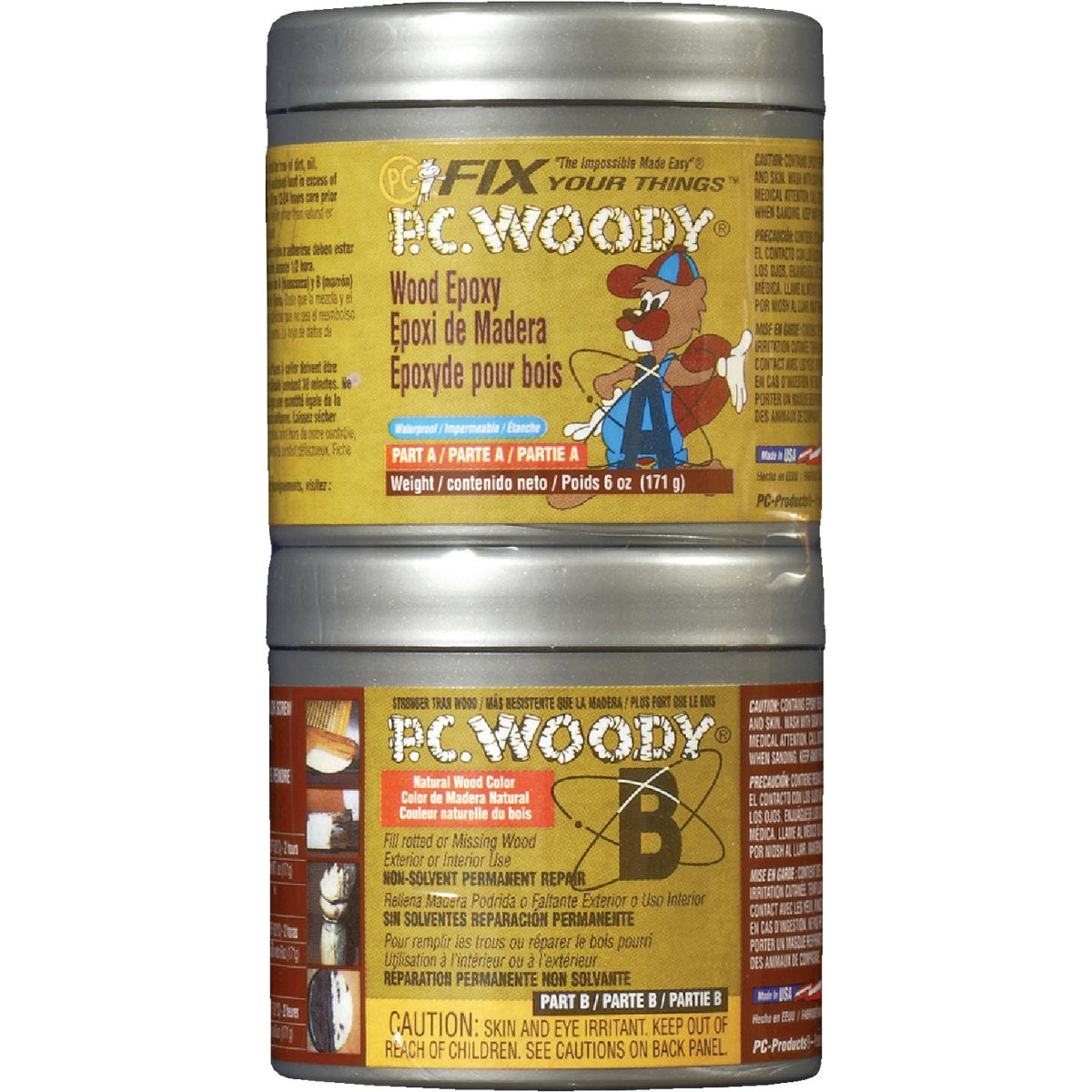 6OZ WOOD EPOXY PASTE