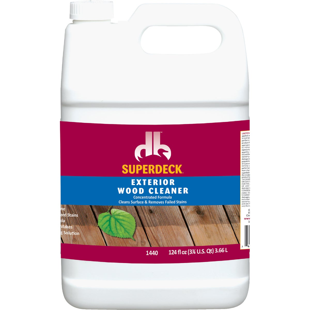 WOOD CLEANER - DB1440-4 by Duckback Prod