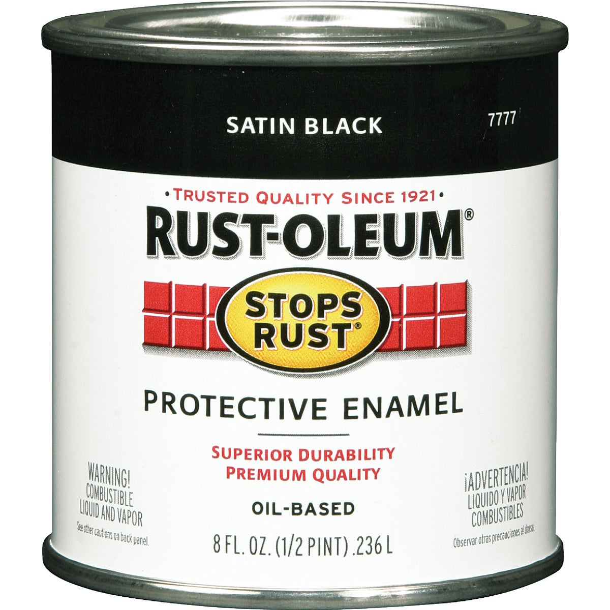 SATIN BLACK ENAMEL - 7777-730 by Rustoleum